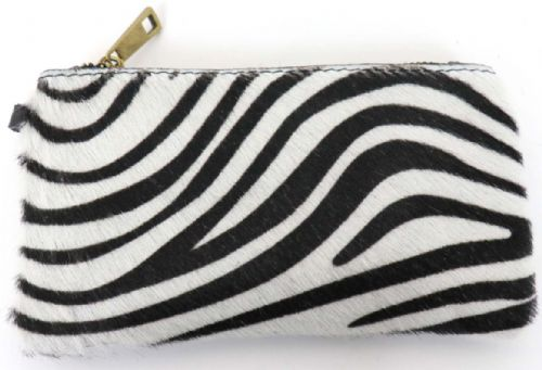 Leather Animal Print Purse/Wallet - Zebra